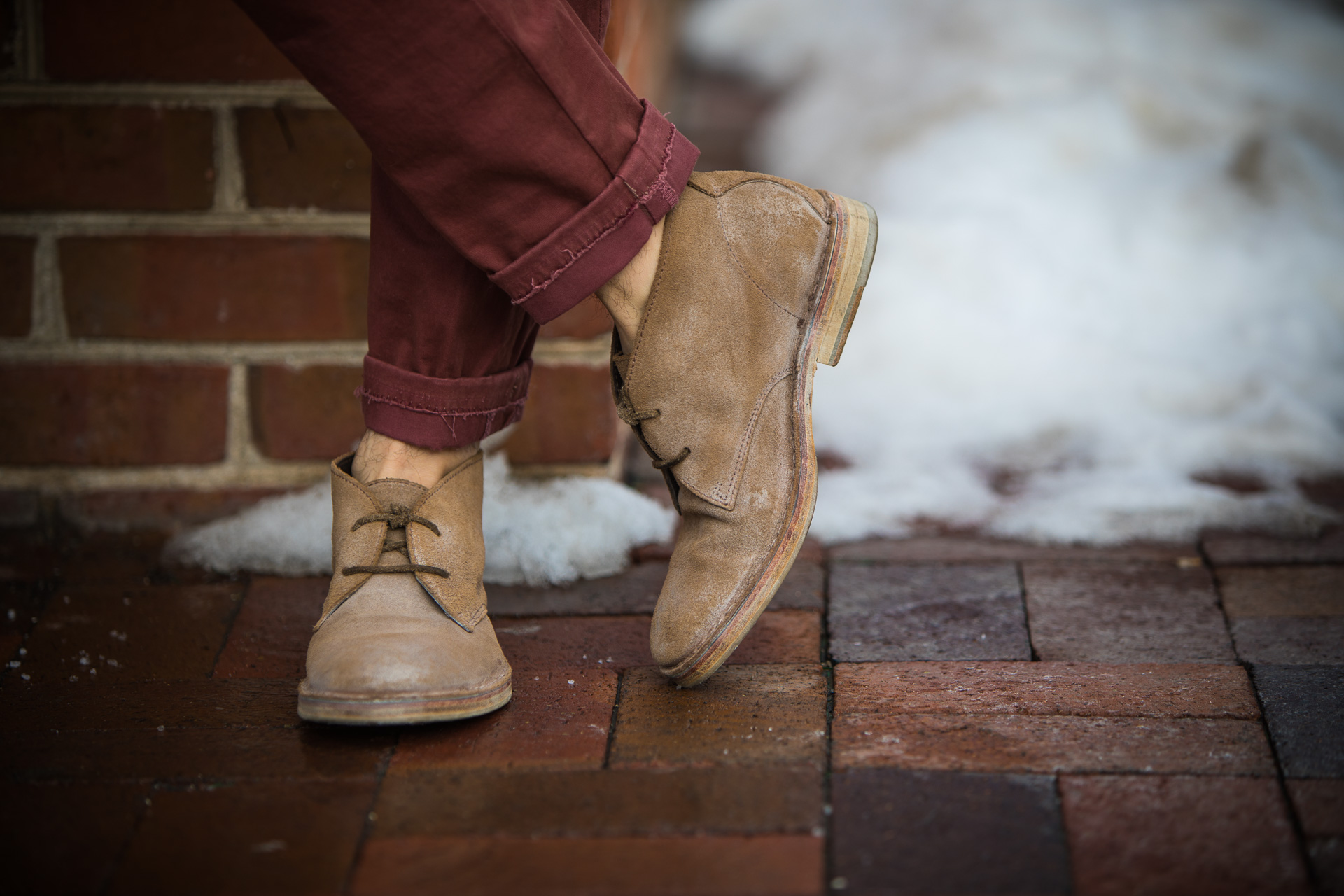 All Saints leather desert boots for short guys