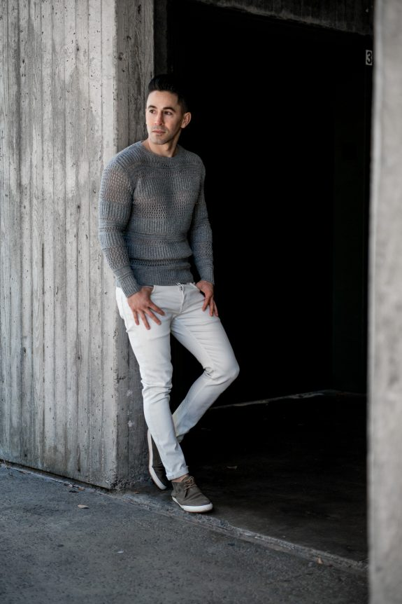All Saints white jeans Jason LoPresti