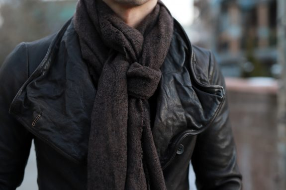 Clothes for short men John Varvatos scarf