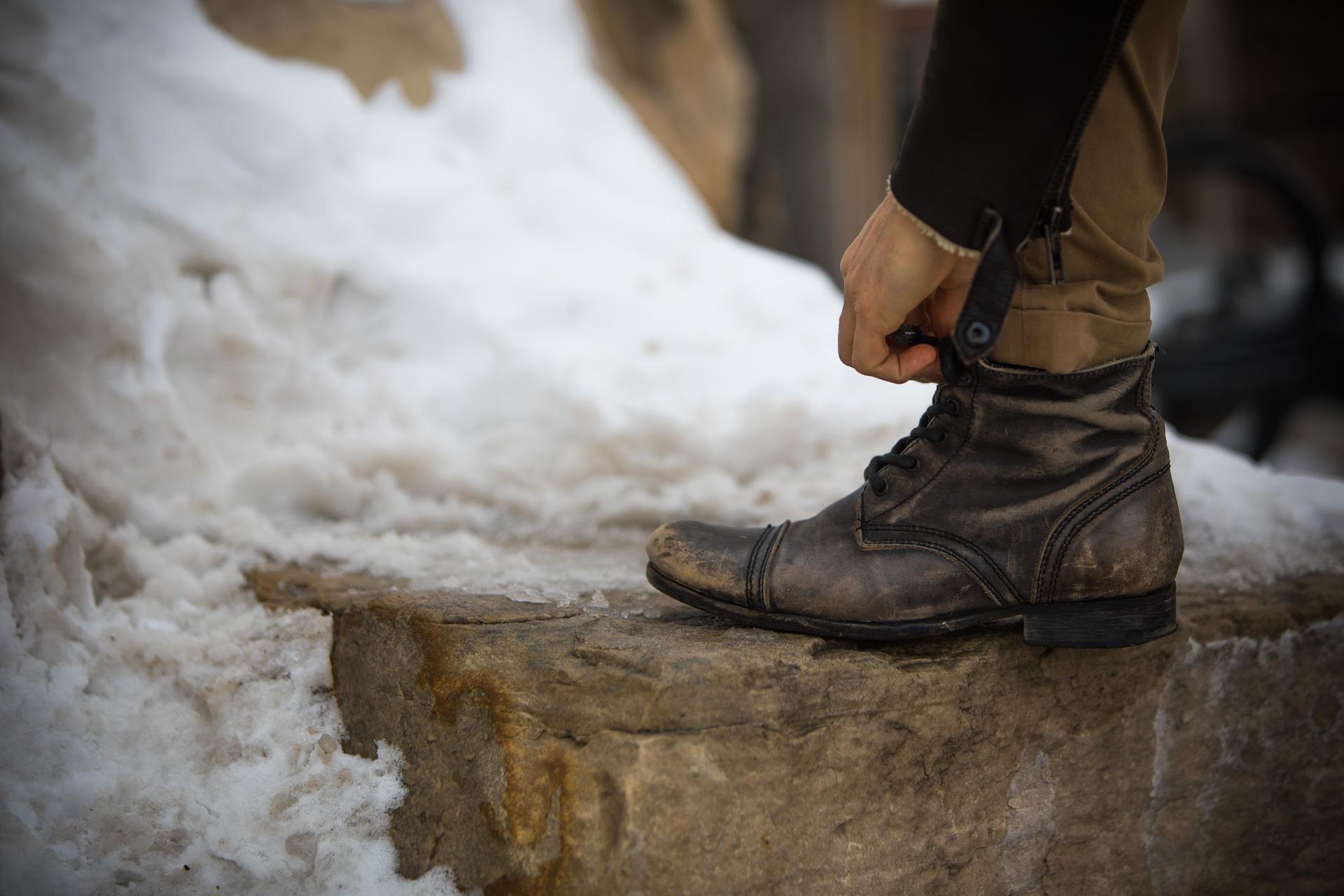 short men all saints leather boots