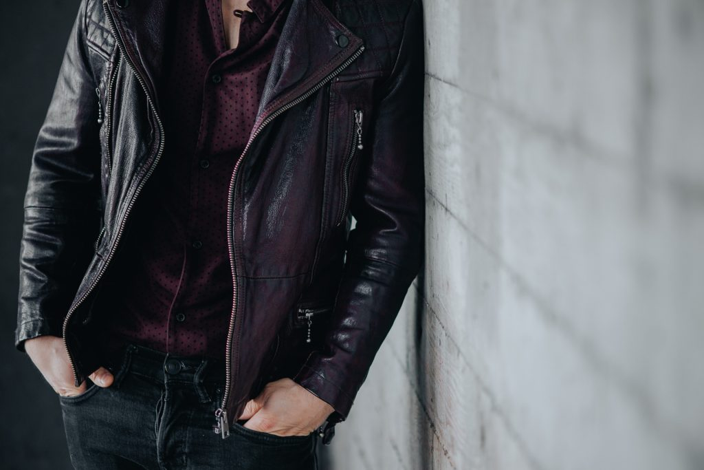 All Saints Callerton leather biker jacket for short men