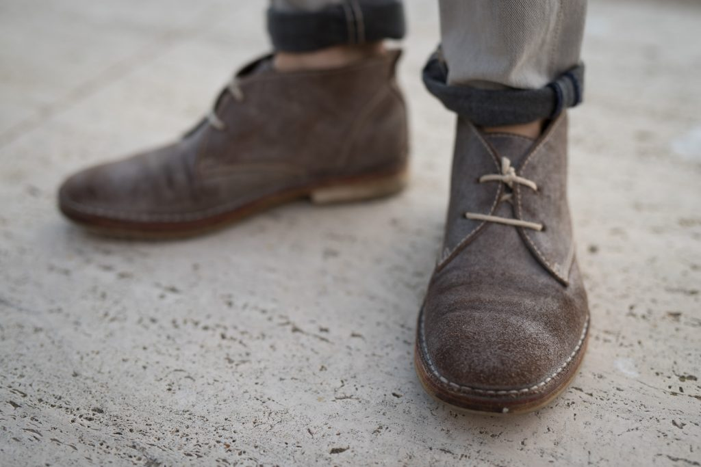 All Saints leather sudede desert boots Jason LoPresti