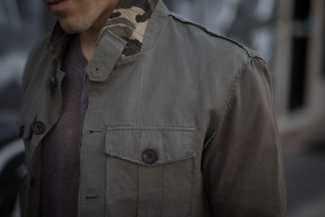 All Saints Okinawa Jacket in Linen for short men