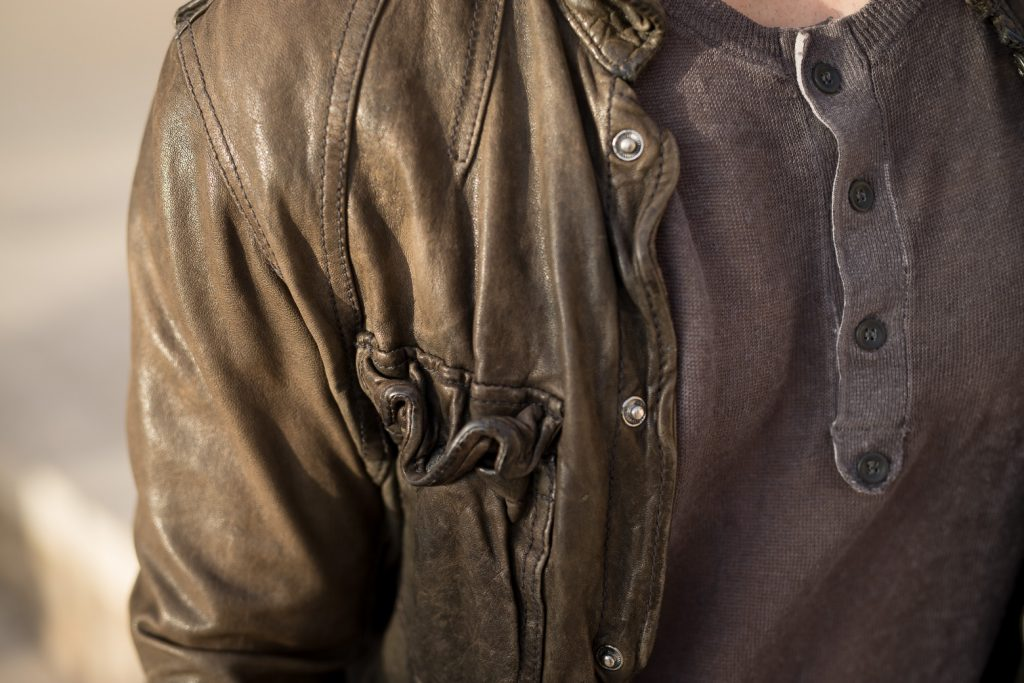 All Saints McKay leather shirt for Short Men