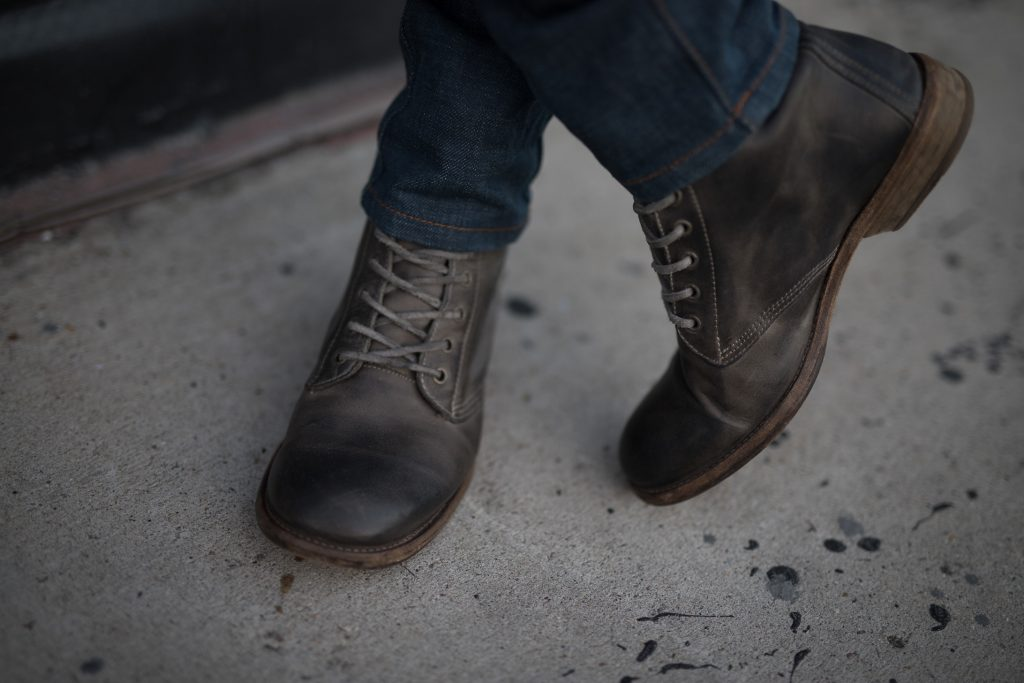 All Saints worker leather boots