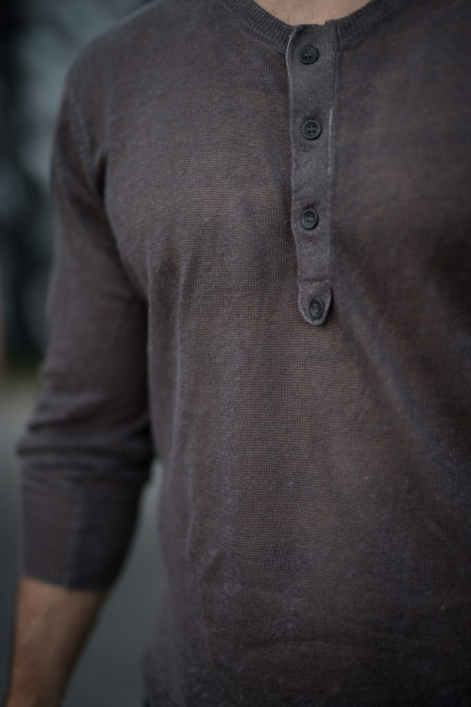 Grey linen shirt clothes for short men