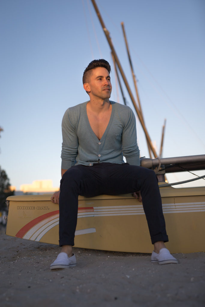 Jason LoPresti navy clothes for short men